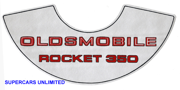 69-72  Oldsmobile Rocket 350 top sticker